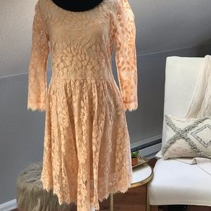 Free People blush lace dress